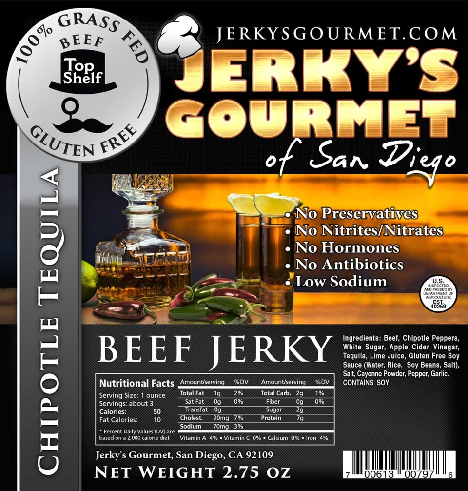 Chipotle Tequila Beef Jerky | Alcohol Infused Beef Jerky